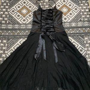 Gothic fairy princess corset front tule dress